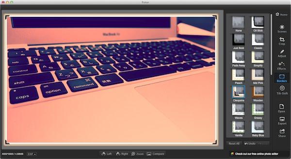 Macの画像アプリFotorの使い方3