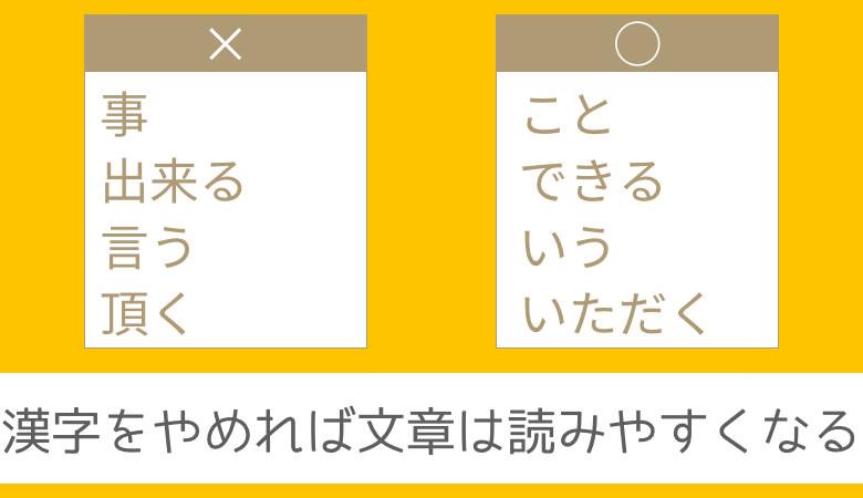 ひらがなにするだけで文章が格段に読みやすくなる11の漢字と正しい使い方