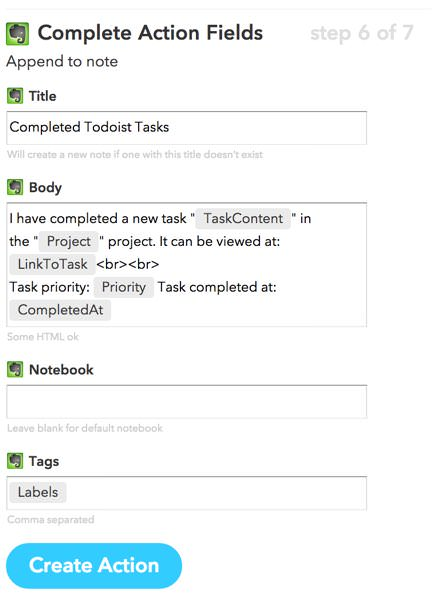 Todoistの完了タスクをEvernoteに保存するiftttレシピで行動記録もバッチリ 6