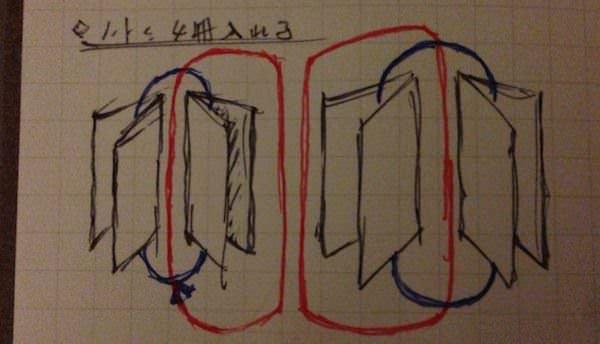 トラベラーズノート 4冊挟む方法 8