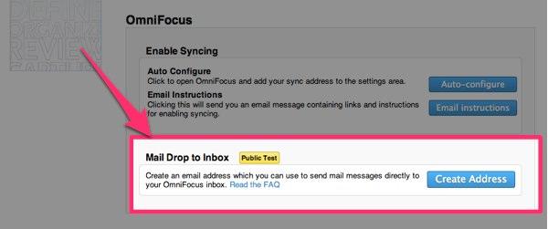 OmniFocusにメールでタスクを追加する方法