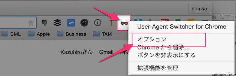 ユーザーエージェントでガラケー フィーチャーフォン のサイトを確認する方法 1