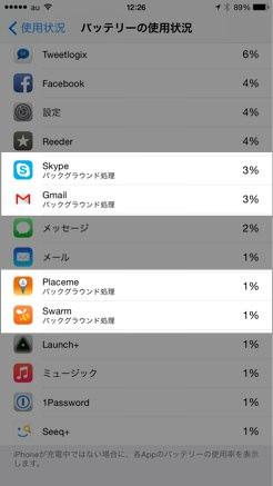 IPhoneでバッテリー消耗の激しいアプリを探して節約 対処する方法 3