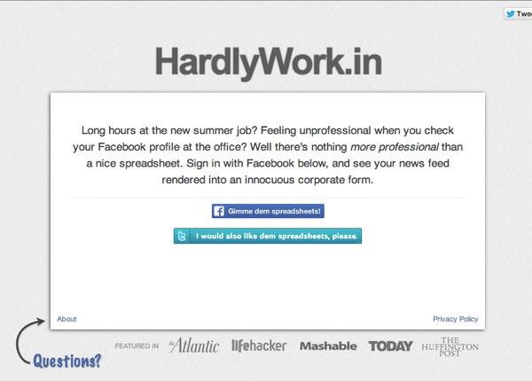 会社でこっそりFacebook HardlyWork in 1