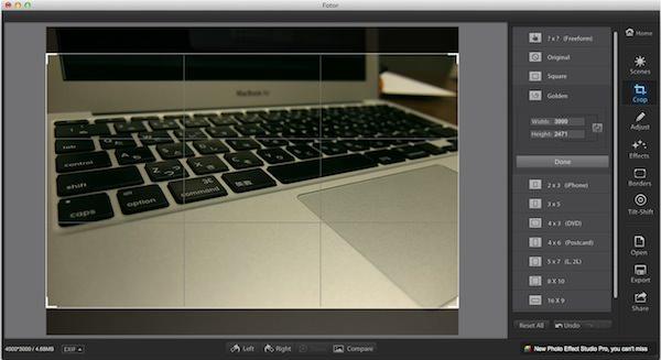 Macの画像アプリFotorの使い方2
