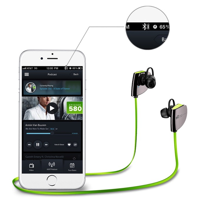 Bluetooth earphone ec tech 9