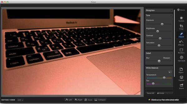 Macの画像アプリFotorの使い方4