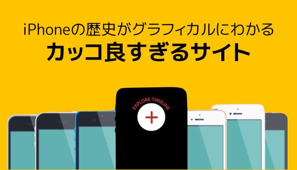 IPhoneの歴史をグラフィカルに比較しつつスペックを確認できるサイト