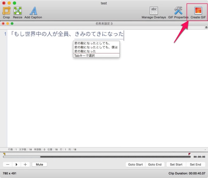Macで手軽にGIFアニメ制作が可能になるアプリ GIFBrewery の使い方を解説せんとす 07