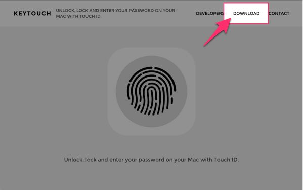 Macのパスワード入力やロックをiPhoneのTouch ID 指紋認証 で解除できるアプリ KeyTouch 1
