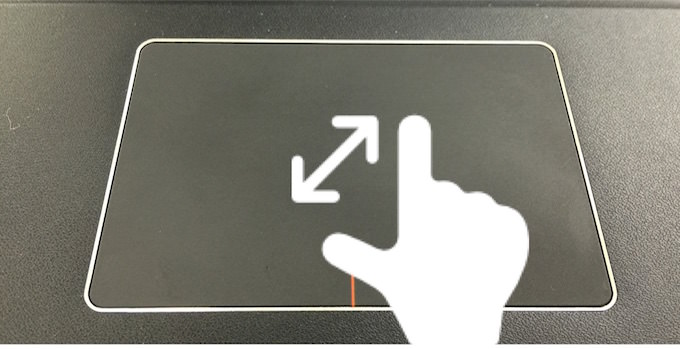 Touchpad gesture 3