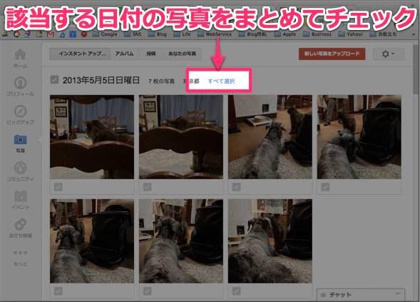 Picasa Google+ のインスタントアップロード整理方法 1