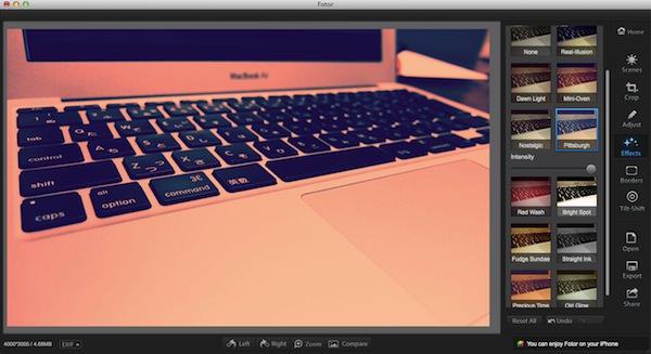 Macの画像アプリFotorの使い方5