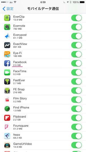 IPhoneの通信量が多いとお困りならFacebookの設定を見直そう 02