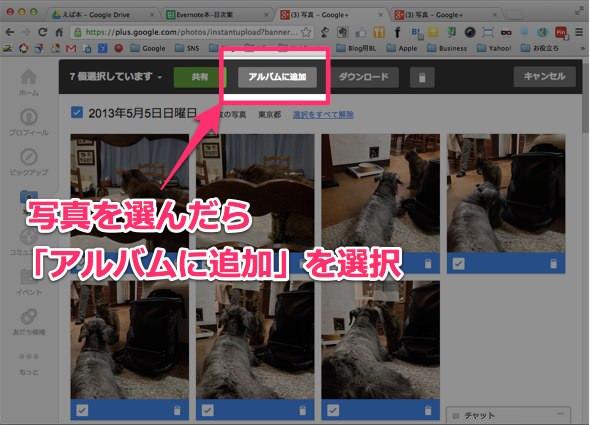 Picasa Google+ のインスタントアップロード整理方法 3