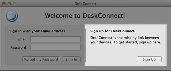 DeskConnect サインアップ