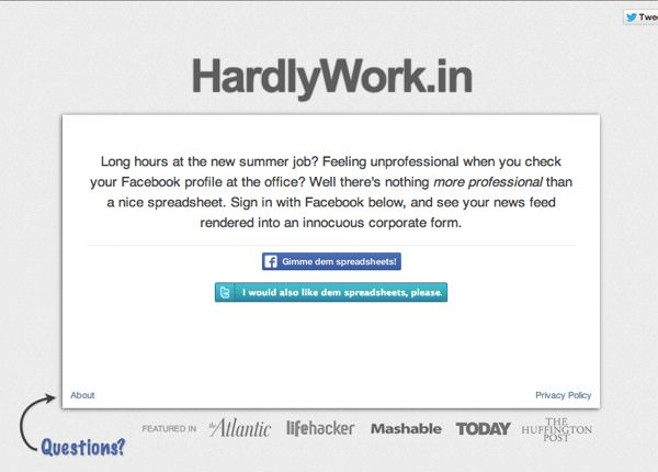 会社でこっそりFacebook HardlyWork in 1