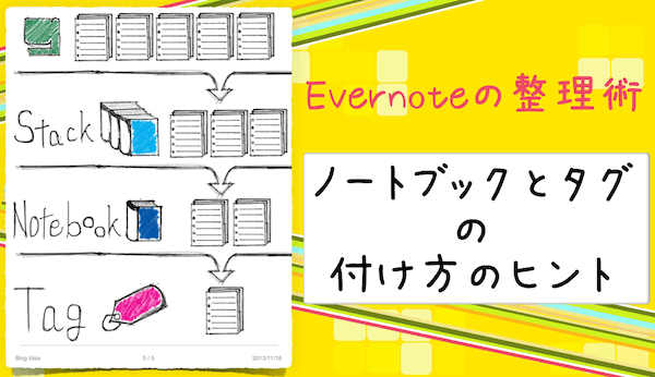 Evernote整理術|ノートブックとタグの付け方