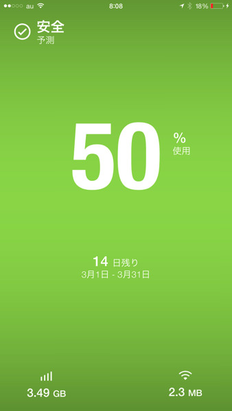 IPhoneオススメアプリ Dataman 1