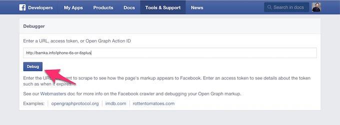 Facebook debugger 4