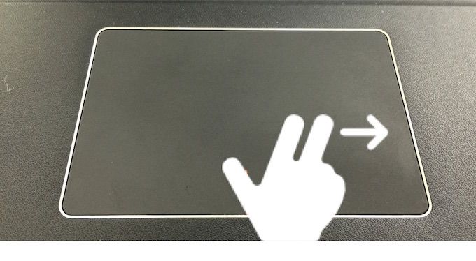 Touchpad gesture 1